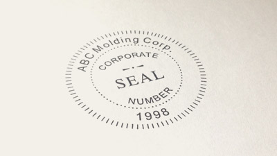 Custom rubber stamps address stamps date stamps more for Common seal template