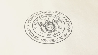 Wood handle stamps traditional rubber stamps for New york state architect stamp