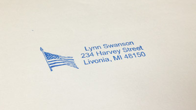 Address & Return Address Stamps