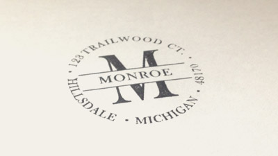 Monogram Address Stamps