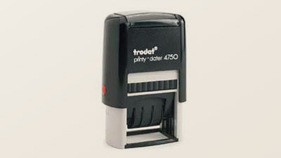 Standard Plastic Self-inking Date Stamps