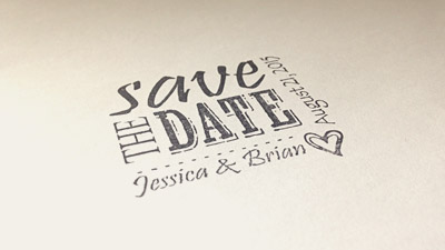 Save The Date Stamps