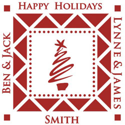 Holiday Monogram Stamp - HMS1 - SC