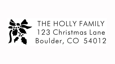 Holiday Holly Address Stamp