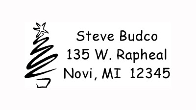 Holiday Tree Address Stamp