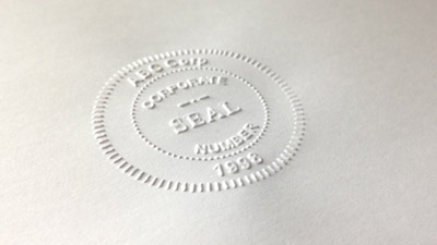 Embossers embossing seals custom embossing stamps for Common seal template