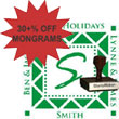 Holiday Monogram Stamps