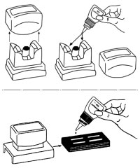 Re-inking an XStamper rubber stamp
