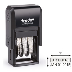 Trodat Printy 4850 Blue/Red Self Inking Dater