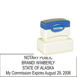 Notary Stamp - ML185 Pre-Inked Stamp - Alaska