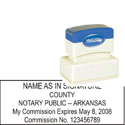 Notary Stamp - ML185 Pre-Ink Stamp - Arkansas