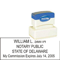 Notary Stamp - ML185 Pre-Ink Stamp - Delaware