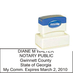 Notary Stamp - ML185 Pre-Inked Stamp - Georgia