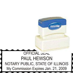 Notary Stamp - ML185 Pre-Inked Stamp - Illinois