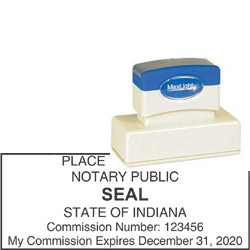 Notary Stamp - ML165 Pre-Inked Stamp - Indiana