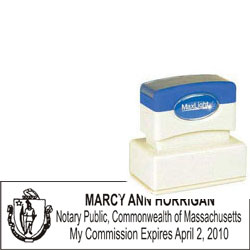 Notary Stamp - ML185 Pre-Ink Stamp - Massachusetts