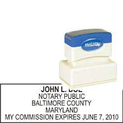 Notary Stamp - ML185 Pre-Ink Stamp - Maryland