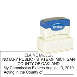 Notary Stamp - ML185 Pre-Ink Stamp - Michigan
