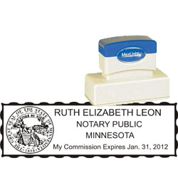 Notary Stamp - ML185 Pre-Ink Stamp - Minnesota
