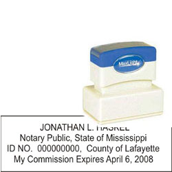 Notary Stamp - ML185 Pre-Ink Stamp - Mississippi