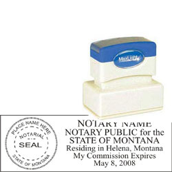 Notary Stamp - ML185 Pre-Ink Stamp - Montana