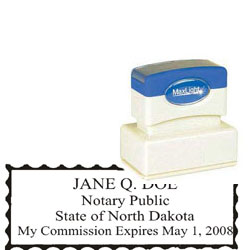Notary Stamp - ML185 Pre-Ink Stamp - North Dakota