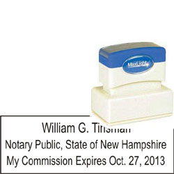 Notary Stamp - ML115 Pre-Inked Stamp - New Hampshire