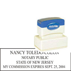 Notary Stamp - ML185 Pre-Ink Stamp - New Jersey