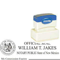 Notary Stamp - ML185 Pre-Inked Stamp - New Mexico