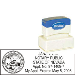 Notary Stamp - ML185 Pre-Inked Stamp - Nevada