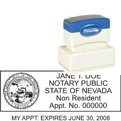 Notary Stamp - ML185 Pre-Inked Stamp - Nevada_2