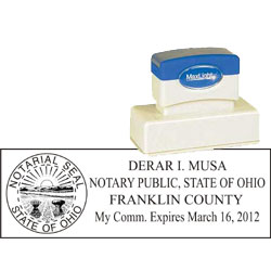 Notary Stamp - ML185 Pre-Inked Stamp - Ohio