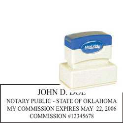 Notary Stamp - ML185 Pre-Ink Stamp - Oklahoma