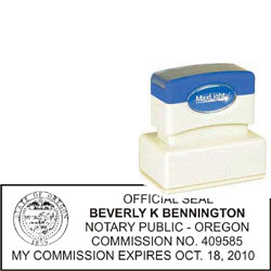 Notary Stamp - ML185 Pre-Inked Stamp - Oregon