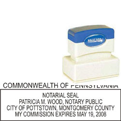 Notary Stamp - ML185 Pre-Inked Stamp - Pennsylvania