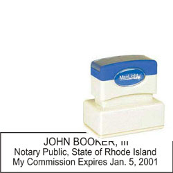 Notary Stamp - ML185 Pre-Inked Stamp - Rhode_Island