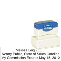 Notary Stamp - ML185 Pre-Inked Stamp - South Carolina