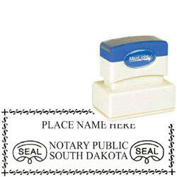 Notary Stamp - ML165 Pre-Inked Stamp - South Dakota