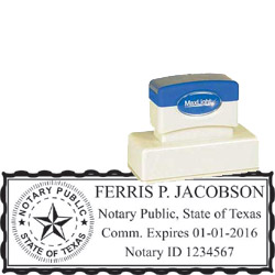 Notary Stamp - ML165 Pre-Inked Stamp - Texas