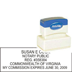 Notary Stamp - ML185 Pre-Inked Stamp - Virginia
