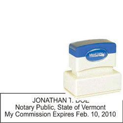 Notary Stamp - ML185 Pre-Ink Stamp - Vermont