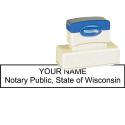 Notary Stamp - ML185 Pre-Ink Stamp - Wisconsin