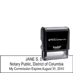Notary Stamp - Trodat 4915 - Dist. Of Columbia
