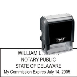 Notary Stamp - Trodat 4913 - Delaware