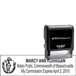 Notary Stamp - Trodat 4915 - Massachusetts