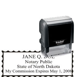 Notary Stamp - Trodat 4913 - North Dakota