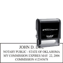 Notary Stamp Trodat 4915 Oklahoma