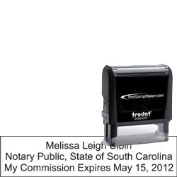 Notary Stamp - Trodat 4915 - South Carolina