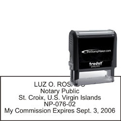 Notary Stamp - Trodat 4915 - Virgin Islands