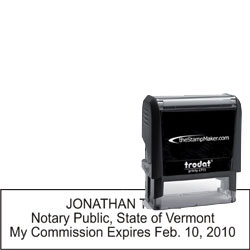 Notary Stamp - Trodat 4915 - Vermont